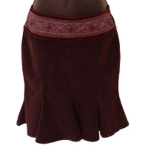 Rinascimento Velvet Skirt w/Embellished Waistband